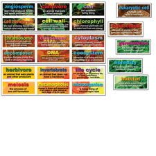 48 Life Science Testing Words Mini Bulletin Board Set