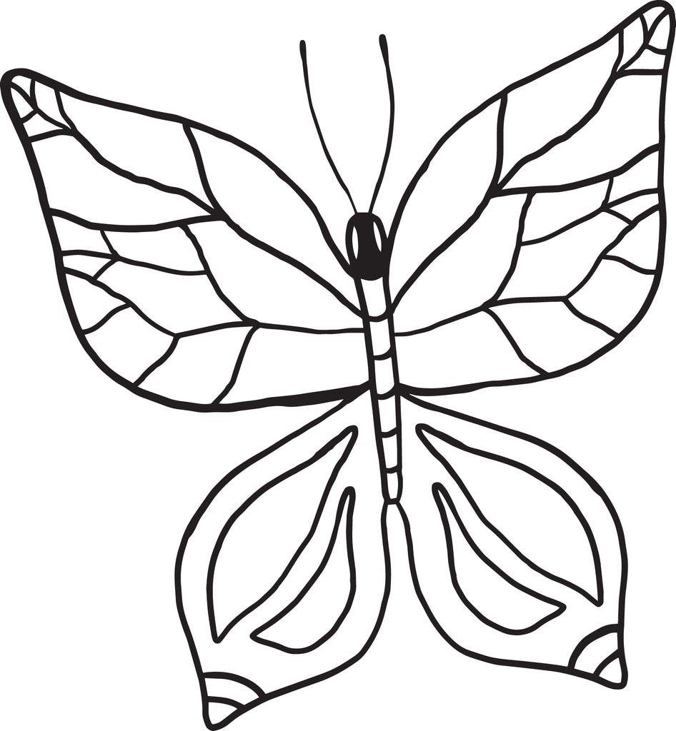 Butterfly Coloring Page #1