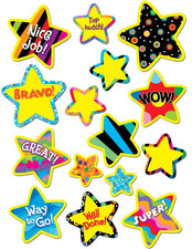 Poppin' Pattern Bright Star Stickers