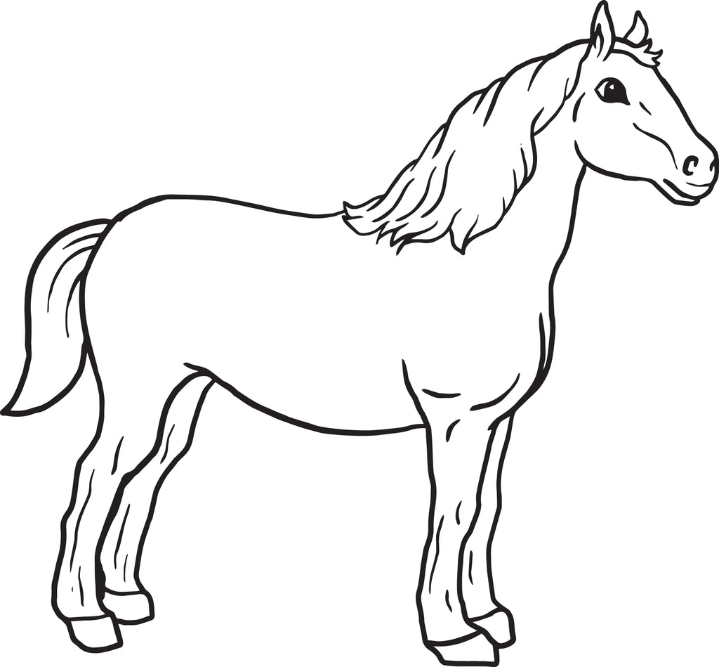graphic regarding Printable Horse identified as Cost-free Printable Horse Coloring Website page for Young children SupplyMe