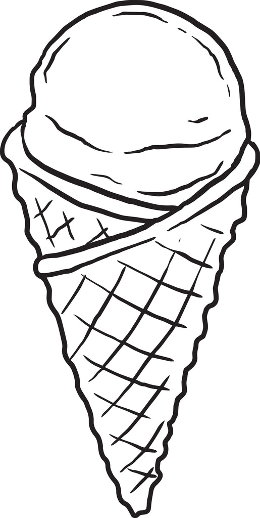 Printable Ice Cream Cone Coloring Page For Kids – SupplyMe