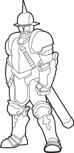 Free, Printable Knight Coloring Page for Kids