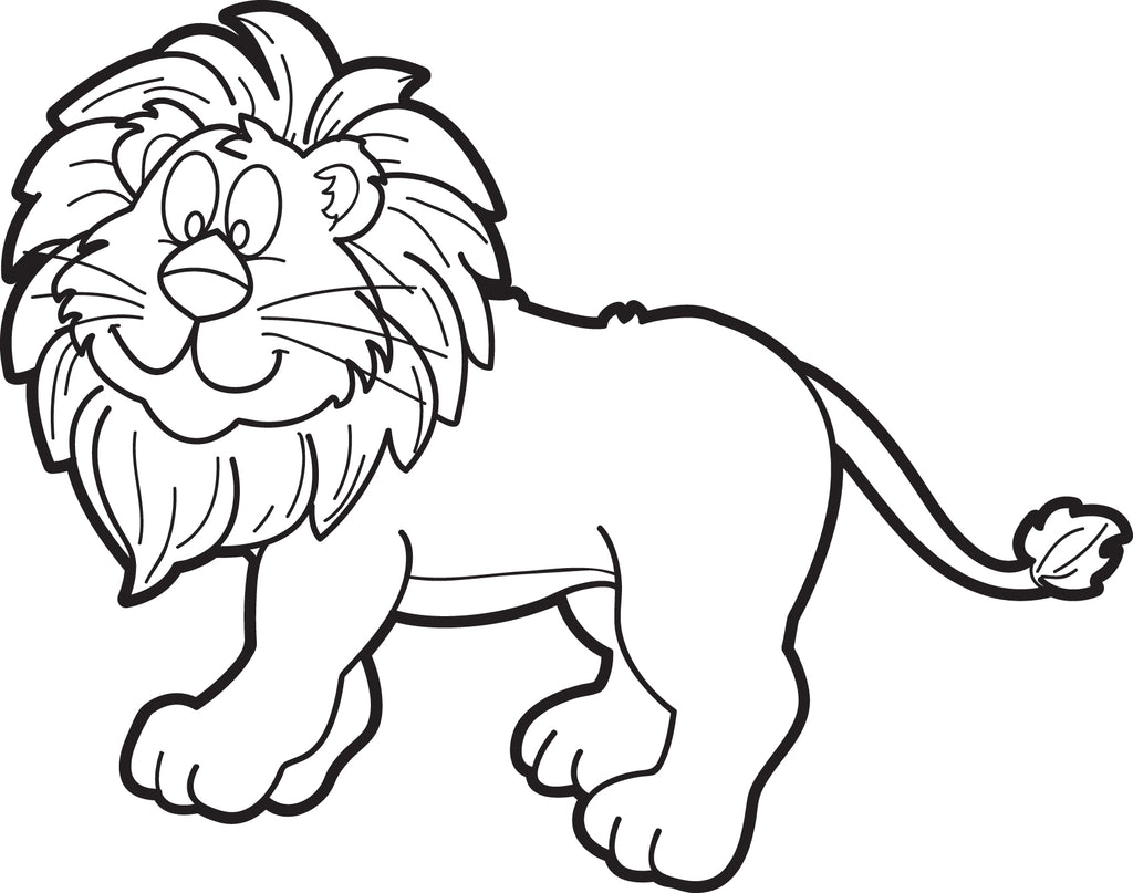 Cartoon Male Lion Coloring Page