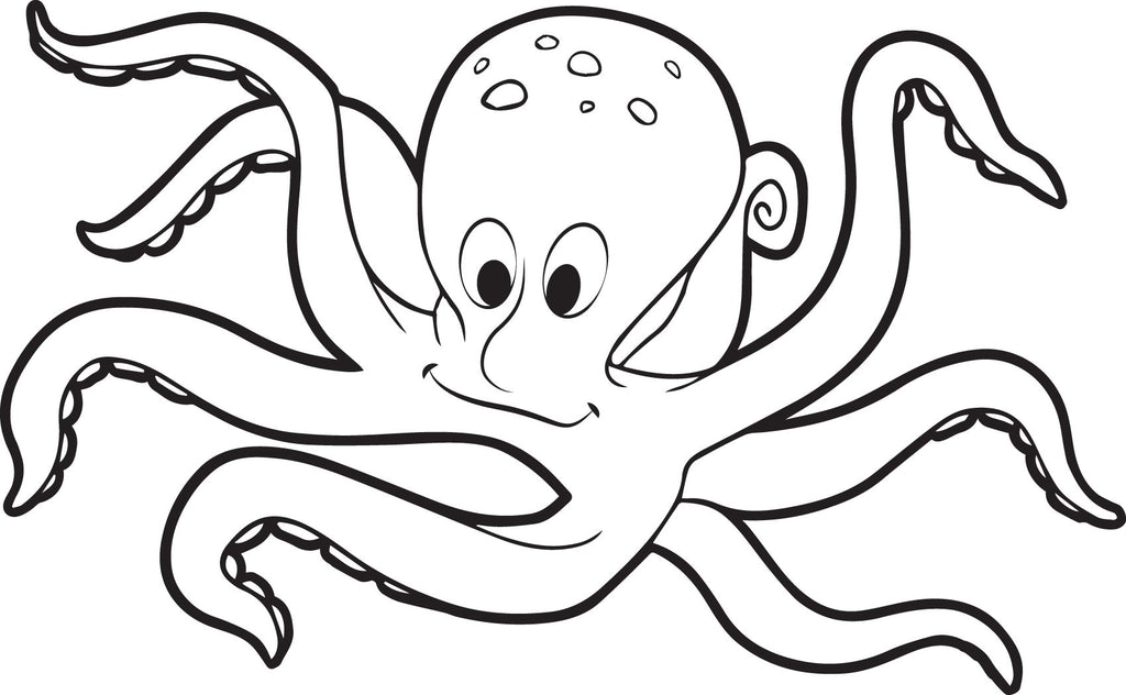 Printable Octopus Coloring Page For Kids Supplyme