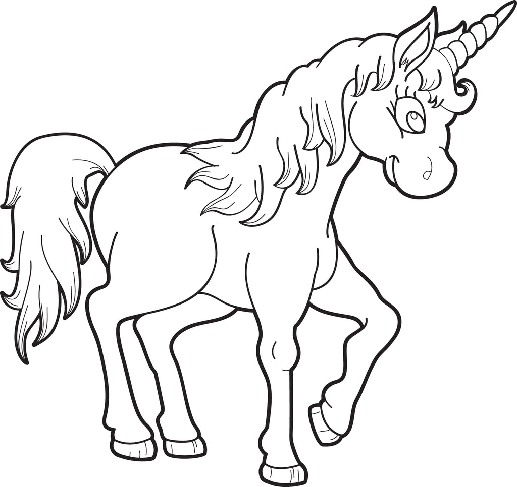 Printable Unicorn Coloring Page for Kids #1 - SupplyMe