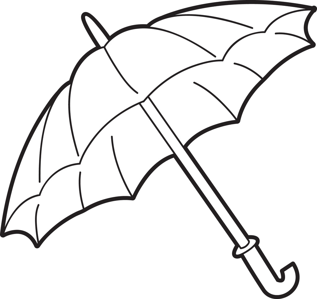 FREE Printable Umbrella Coloring