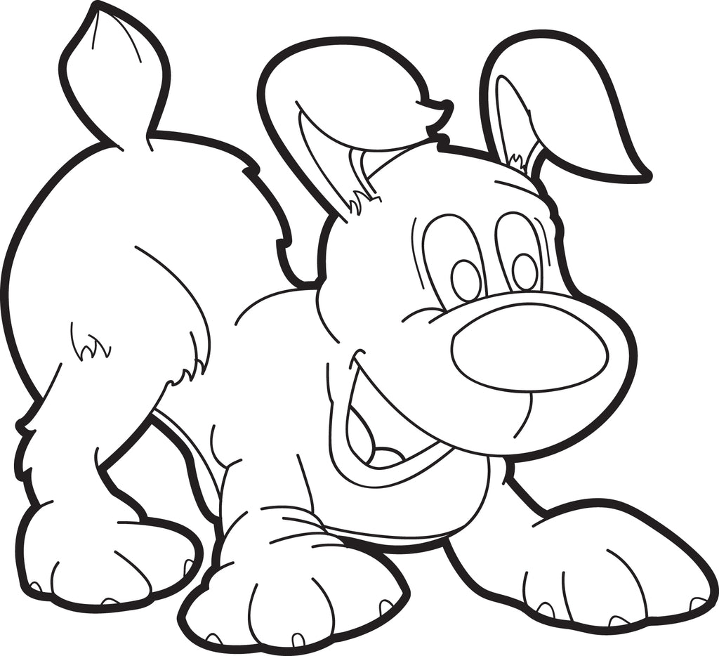 FREE Printable Cartoon Puppy Dog Coloring Page for Kids ...