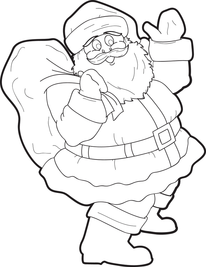 FREE Printable Santa Claus Coloring Page for Kids #5 – SupplyMe