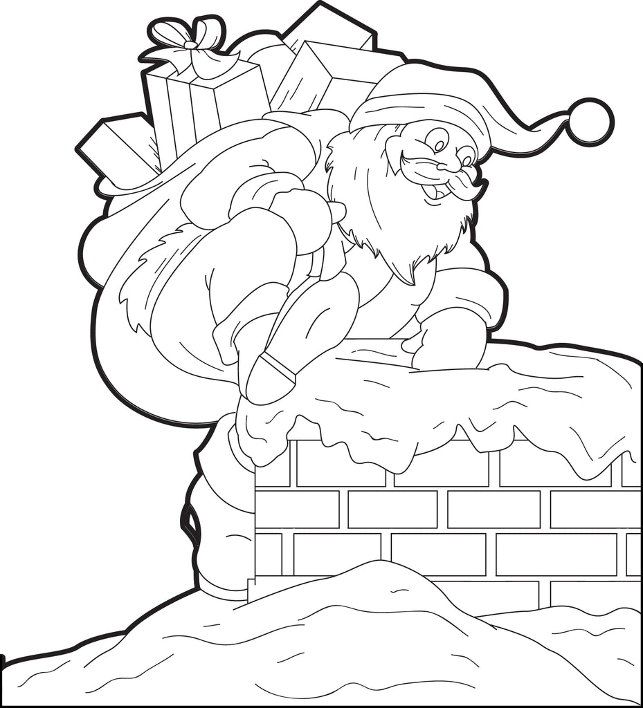 FREE Printable Santa Claus Coloring Page For Kids #4 ...