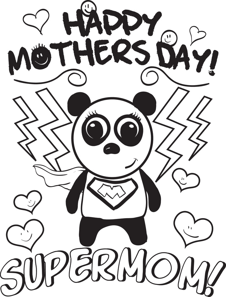 Free Printable Supermom Mother S Day Coloring Page For Kids Supplyme