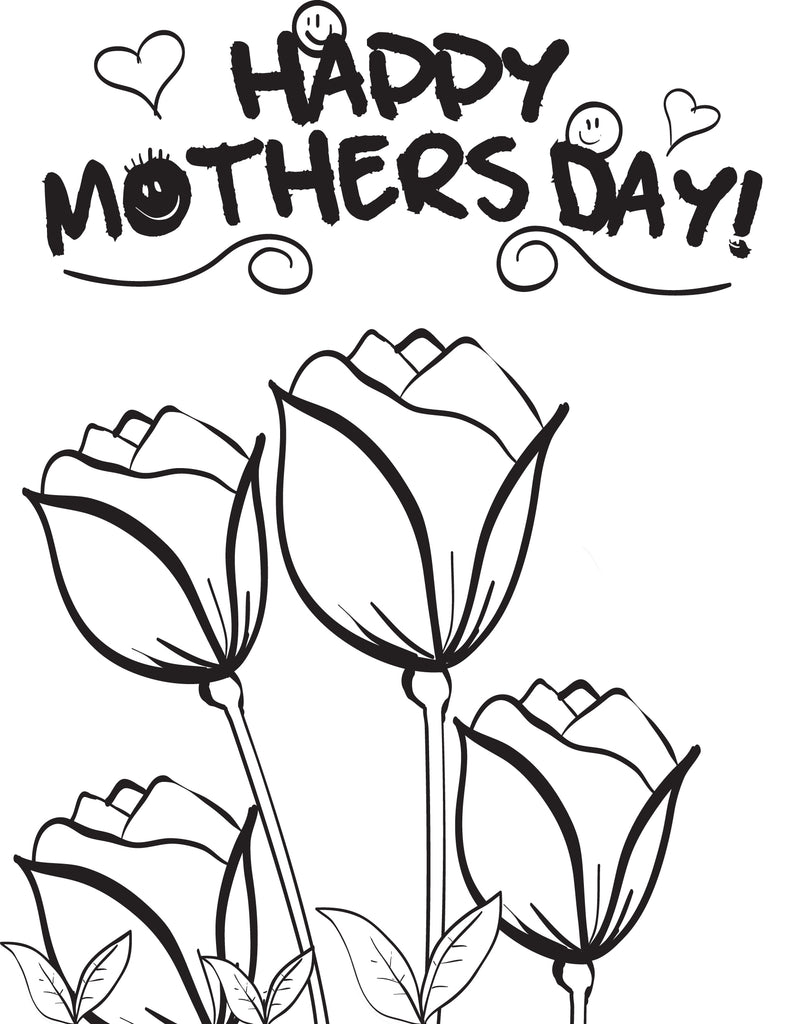 FREE Printable Mother 39 s Day Flowers Coloring Page for Kids