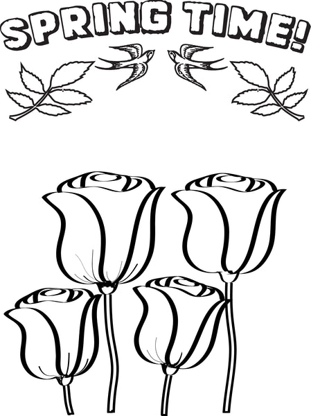 FREE Printable Spring Flowers Coloring Page for Kids ...