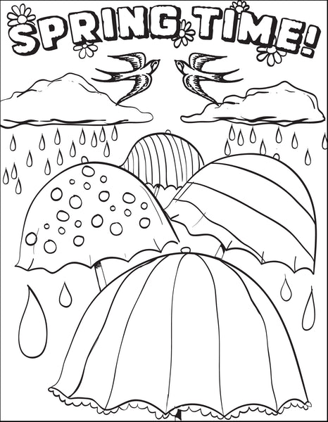 Free, Printable Spring Time Coloring Page for Kids
