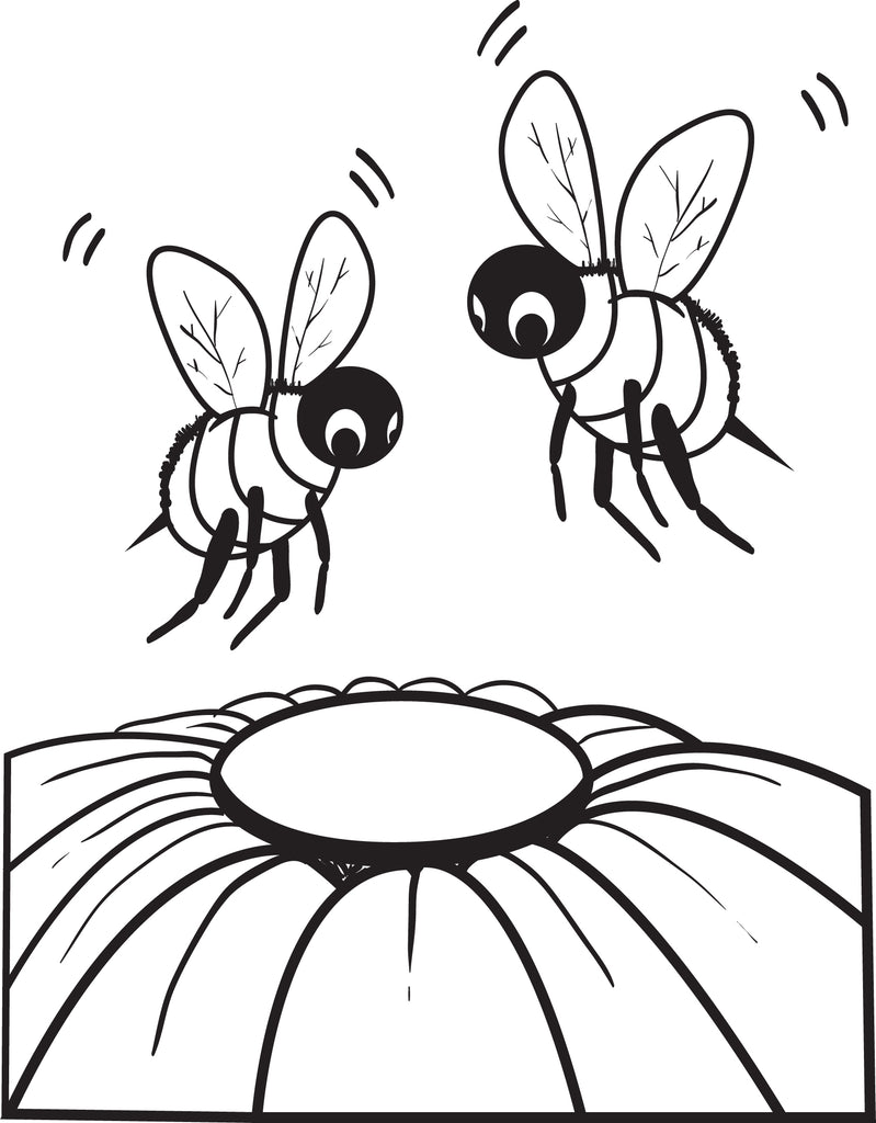 Bee Coloring Page #2