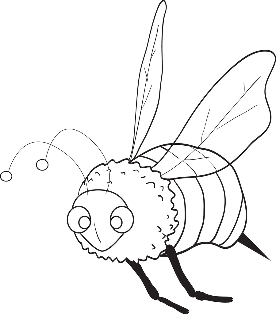 Free, Printable Bee Coloring Page for Kids