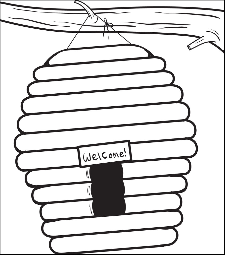 Beehive Coloring Page #2