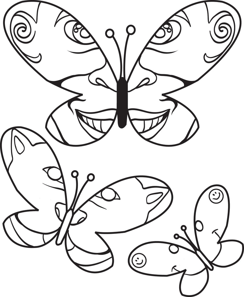 Printable Butterfly Coloring Page For Kids 3 Supplyme