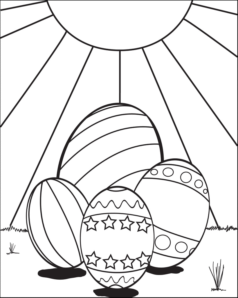 Easter Eggs Coloring Page #1