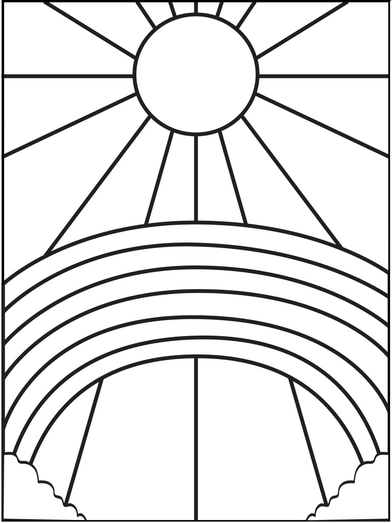 Printable Rainbow and Sun Coloring Page for Kids – SupplyMe