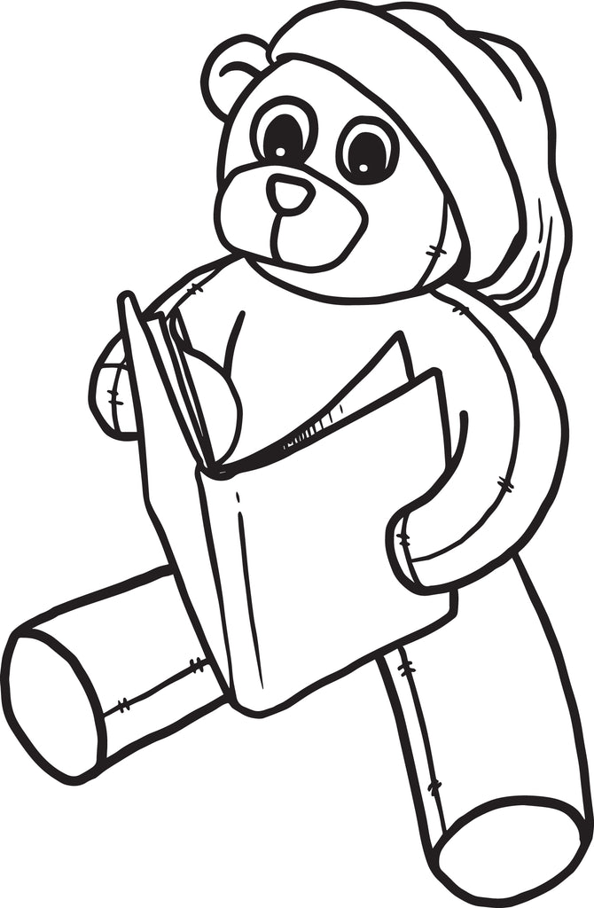 Free Printable Christmas Teddy Bear Coloring Page For Kids Supplyme