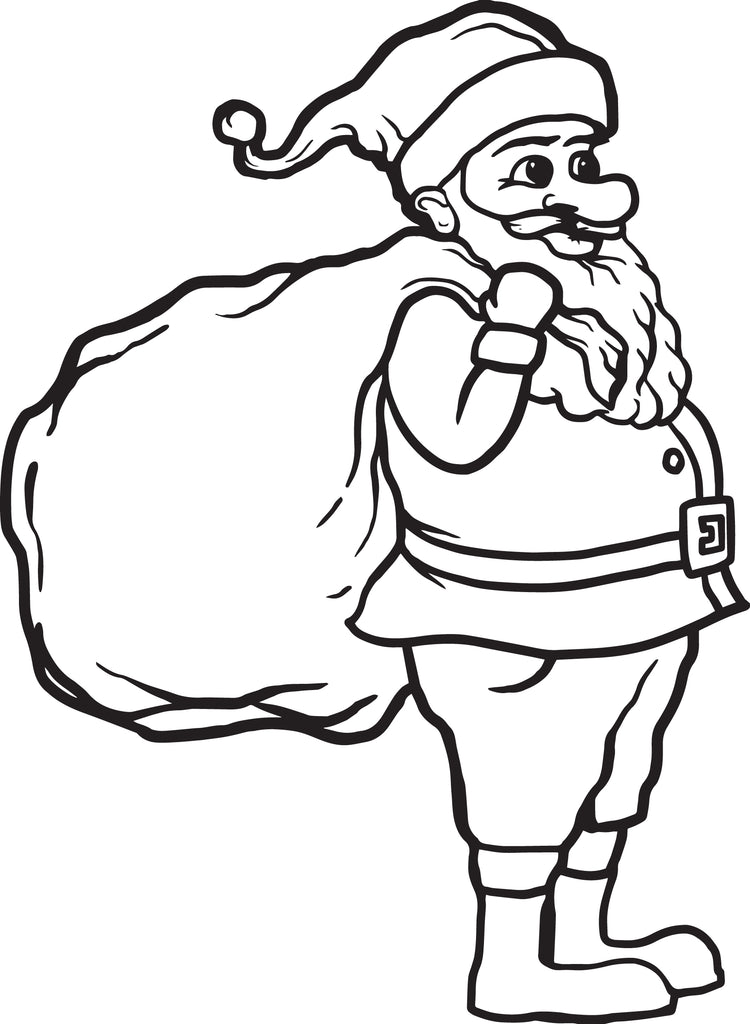 Printable Santa Claus Coloring Page for Kids #1 - SupplyMe