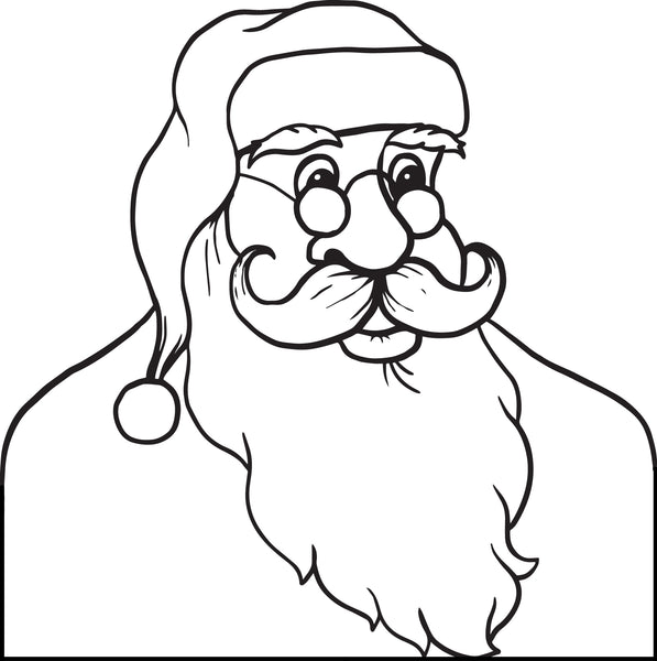 FREE Printable Santa Claus Coloring Page For Kids #2