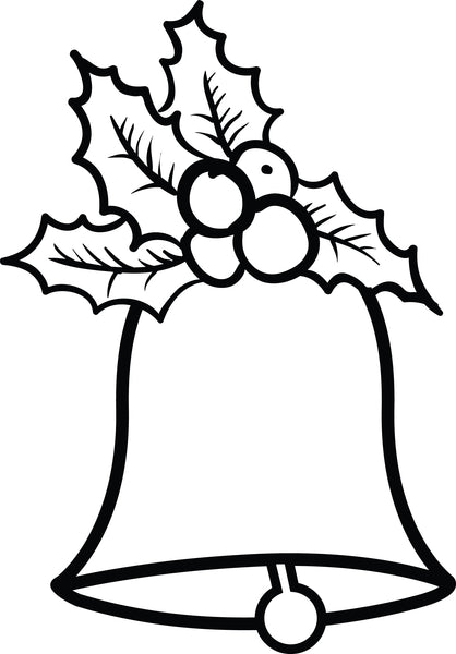 Free, Printable Christmas Bells Coloring Page for Kids #2