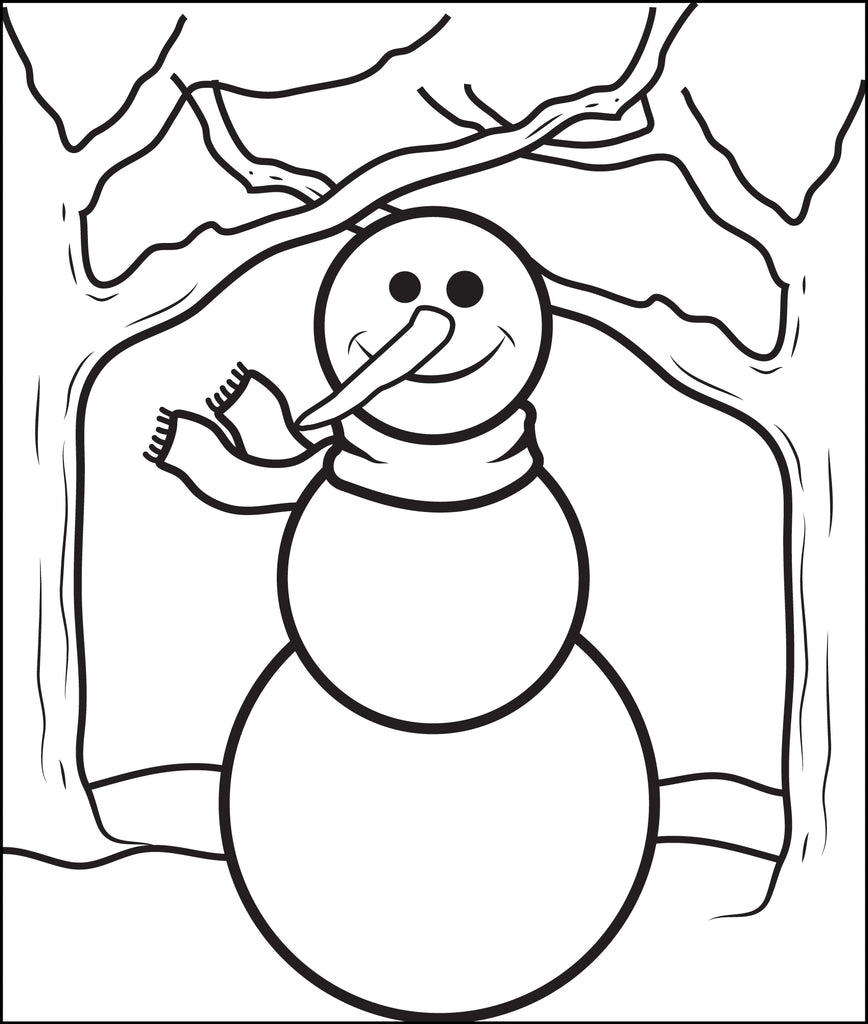 FREE Printable Snowman Coloring Page for Kids