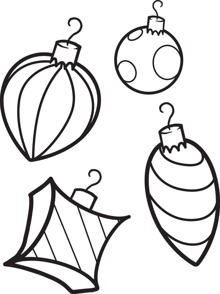 FREE Printable Christmas Ornaments Coloring Page for Kids ...