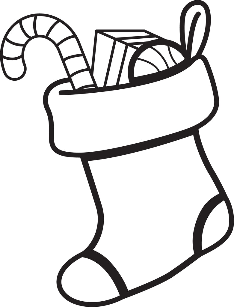 Free, Printable Christmas Stocking Coloring Page for Kids – SupplyMe