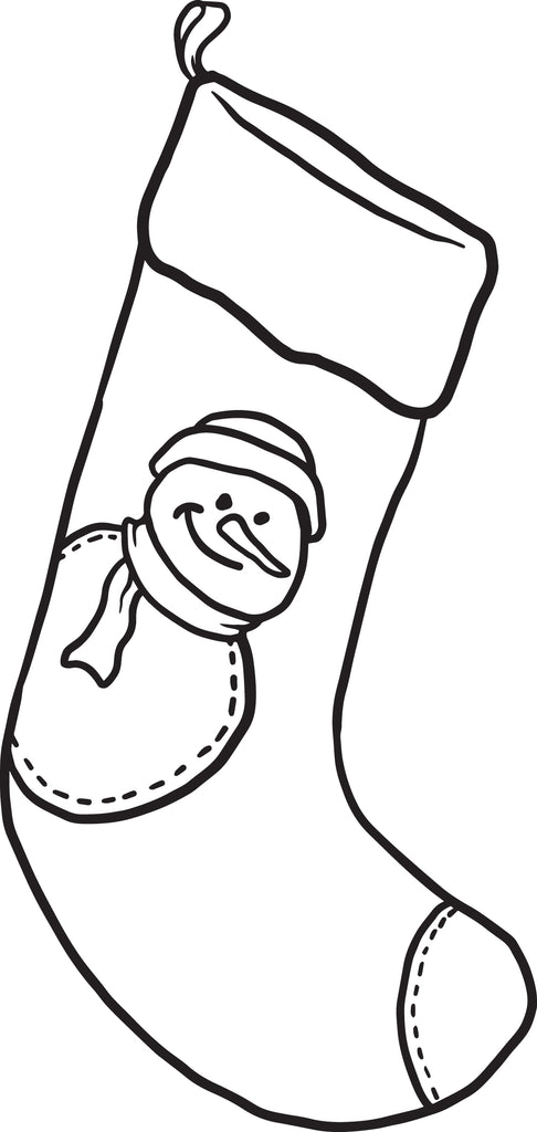Christmas Stocking Coloring Page #2