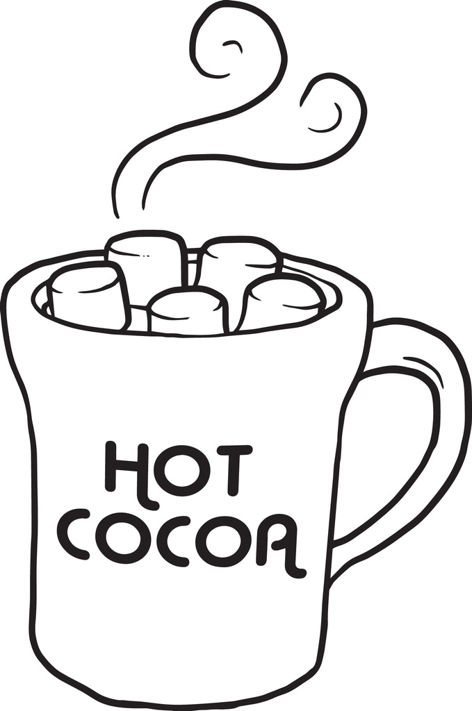 Free printable hot cocoa coloring page for kids supplyme for Hot chocolate coloring page