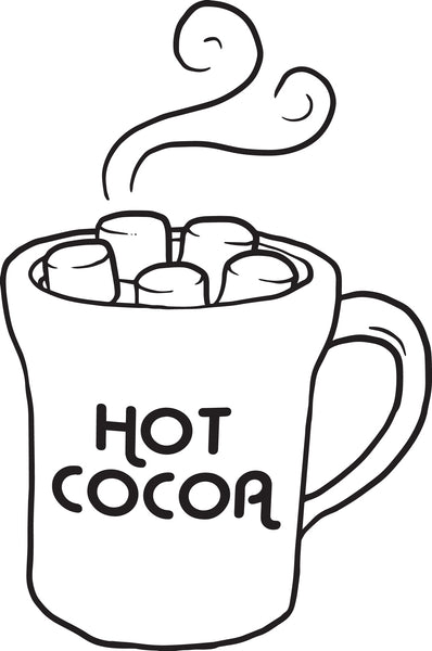 FREE Printable Hot Cocoa Coloring Page for Kids
