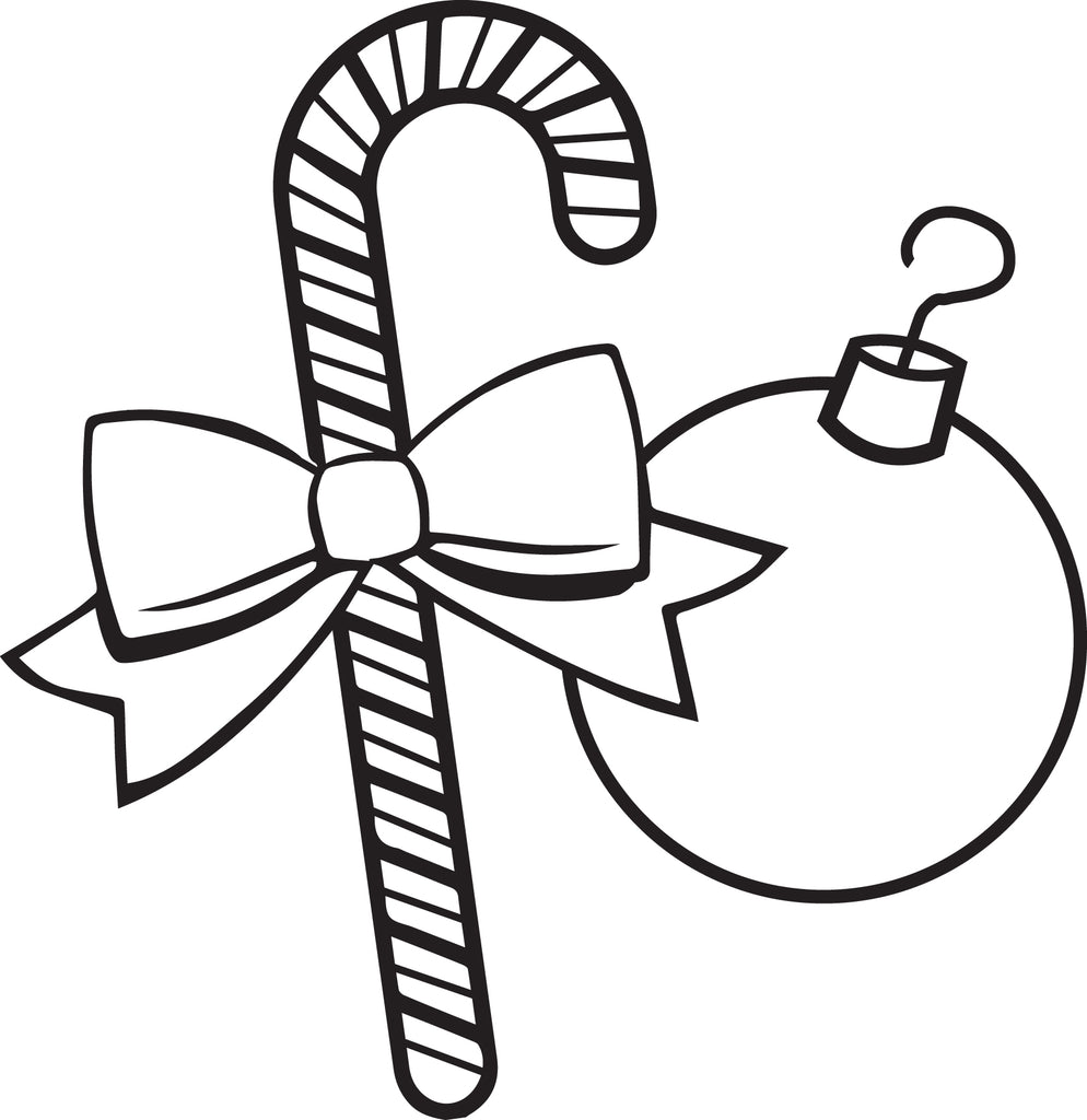 Free, Printable Christmas Ornaments Coloring Page for Kids #3 – SupplyMe