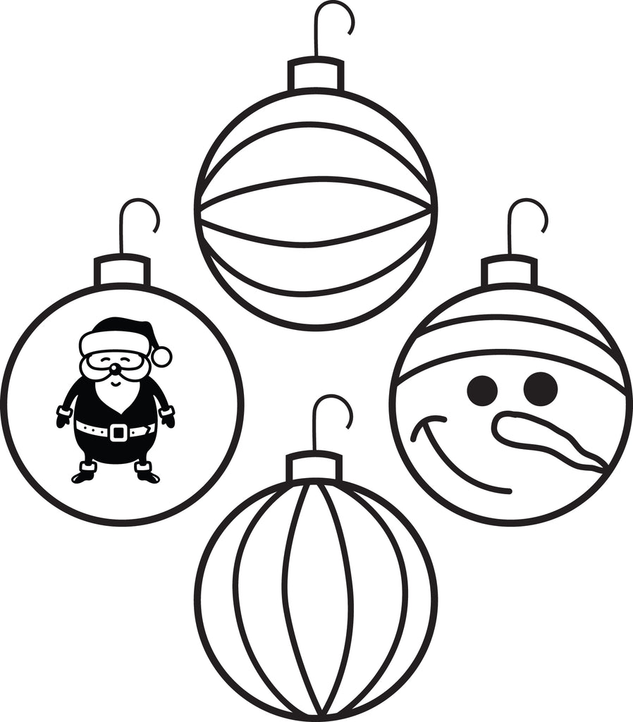 - Printable Christmas Ornaments Coloring Page For Kids #4 – SupplyMe
