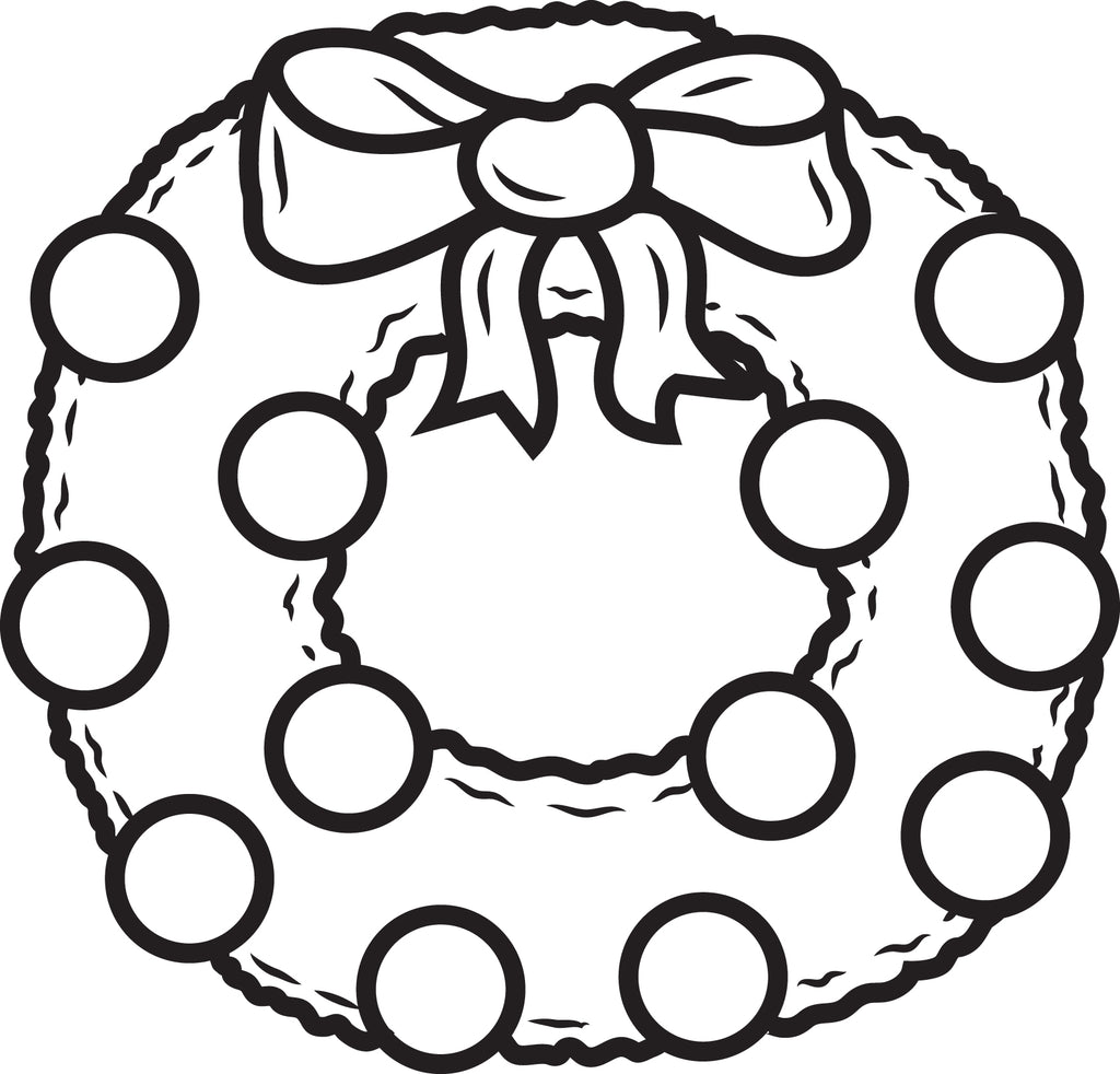 Printable Christmas Wreath Coloring Page for Kids #1 ...