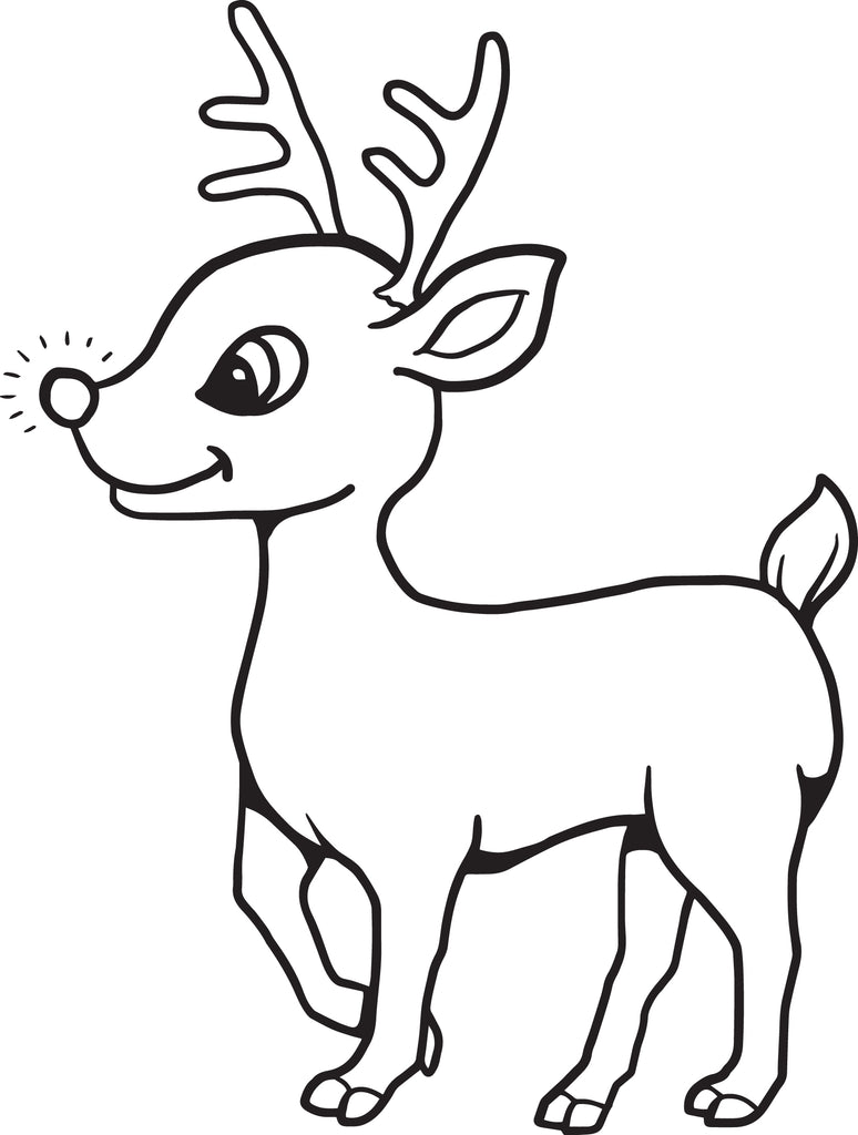 FREE Printable Baby Reindeer Christmas Coloring Page for ...