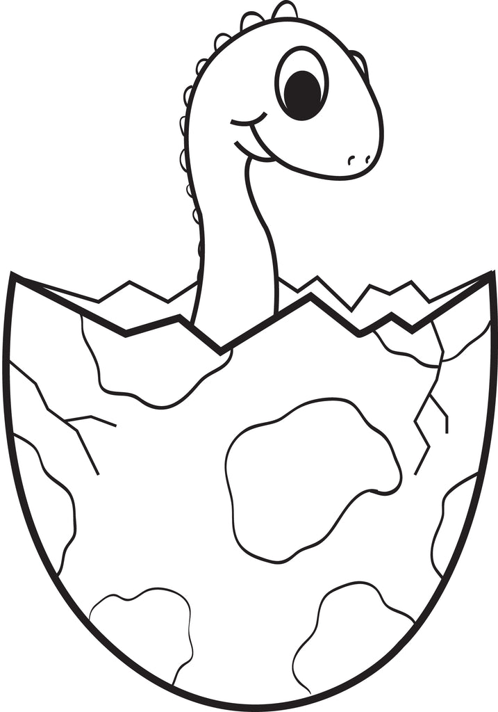FREE Printable Cartoon Baby Dinosaur Coloring Page for