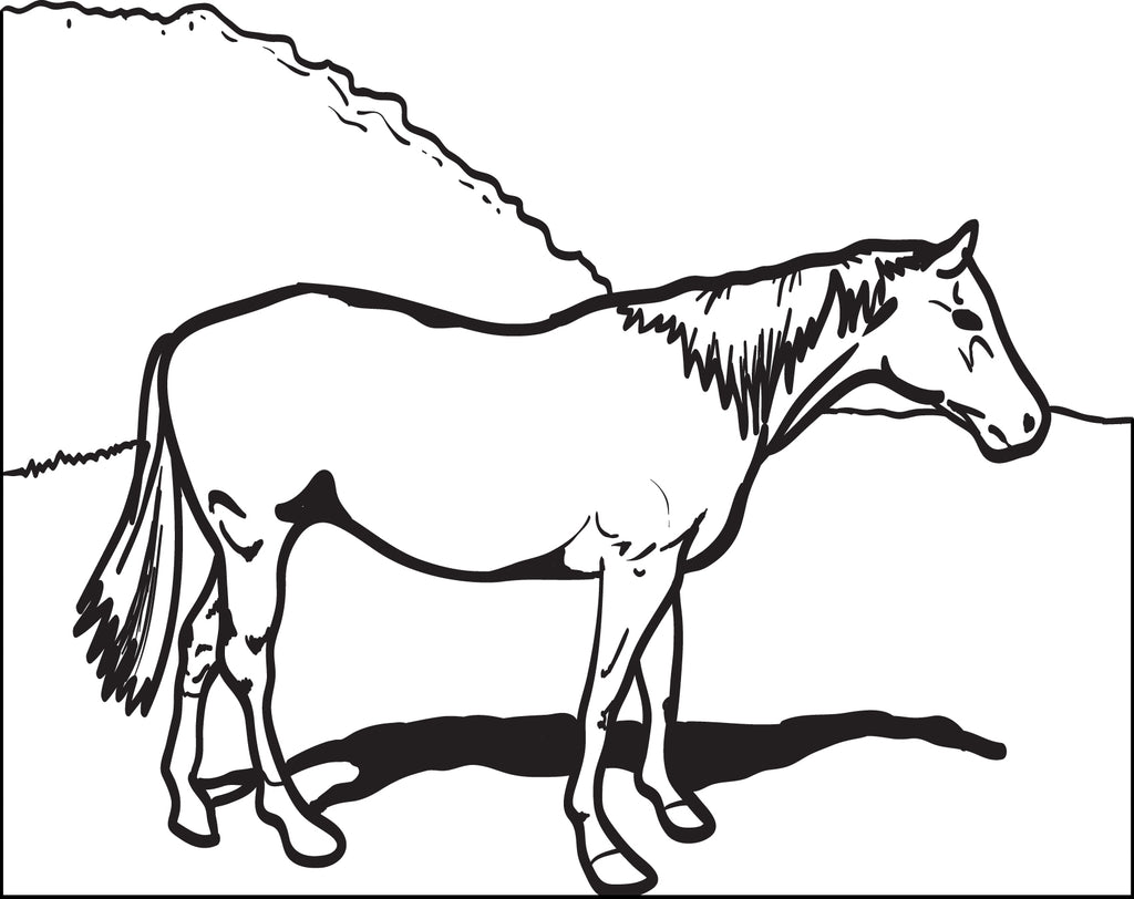 Horse Coloring Page #2