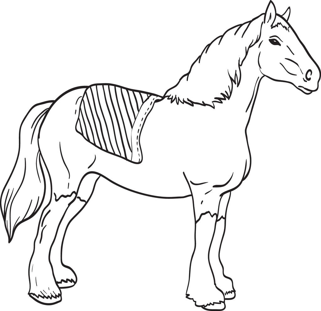clydesdale coloring pages - photo#12