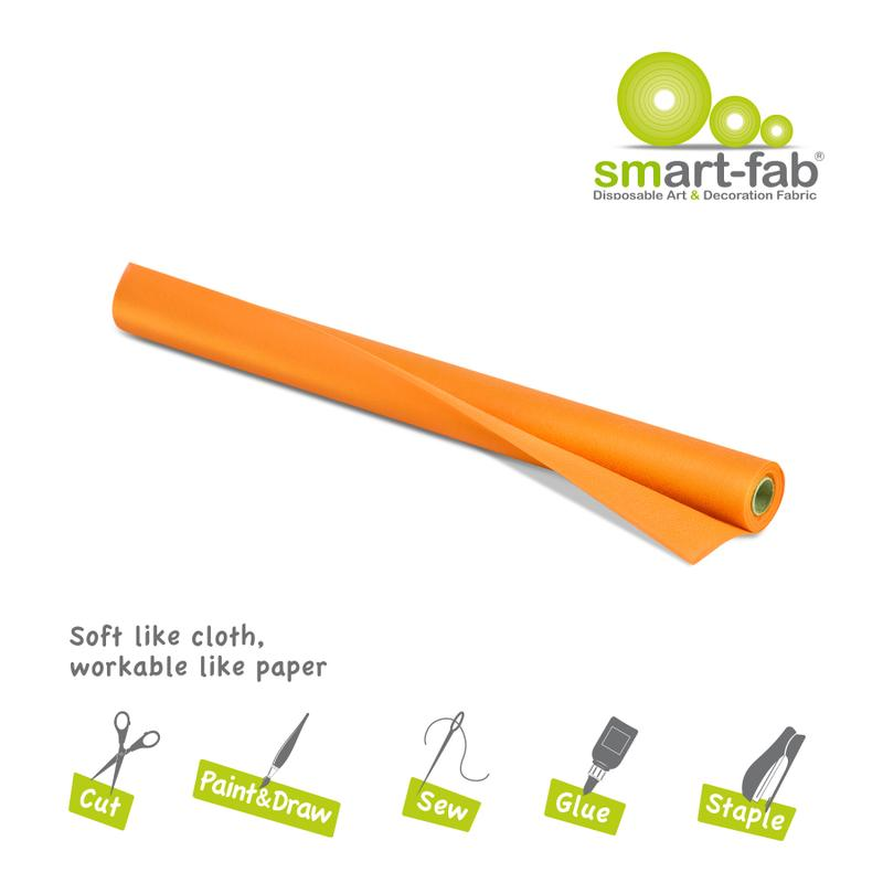 "Smart-Fab® Orange Fabric, 24"" x 18' Roll"