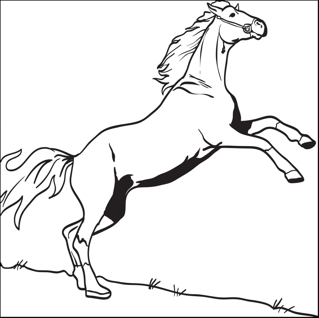 Printable Horse Coloring Page for Kids #3 – SupplyMe