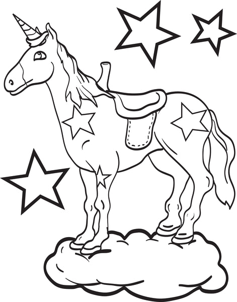Free, Printable Unicorn Coloring Page for Kids