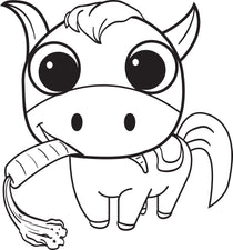 Cartoon Horse Coloring Page #2