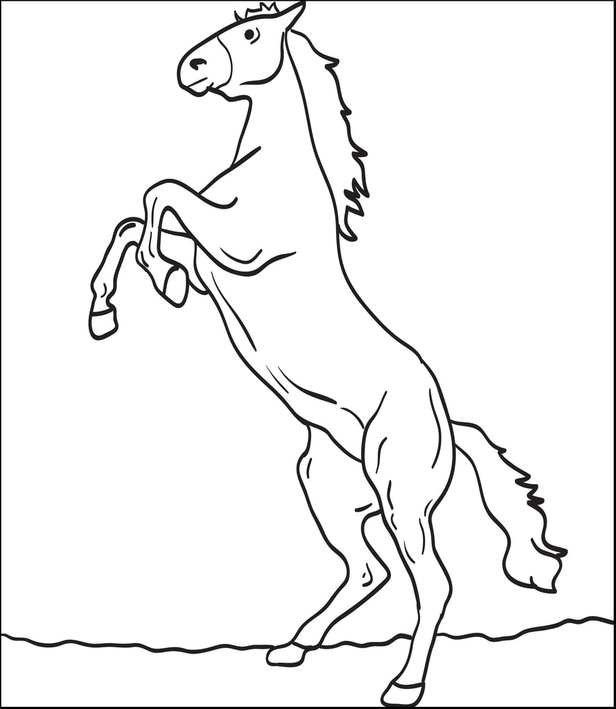 FREE Printable Horse Coloring Page for Kids #4
