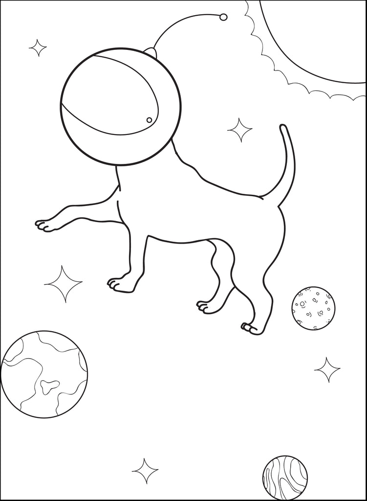 Space Dog Coloring Page