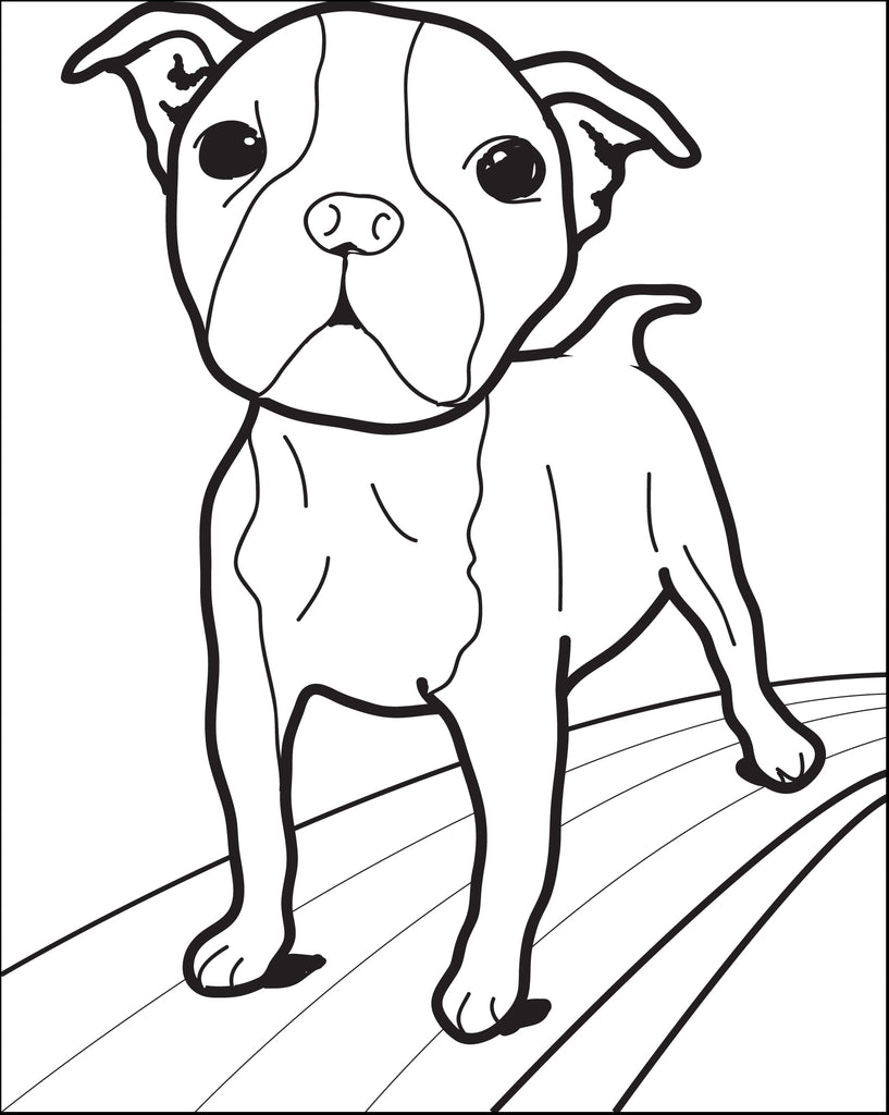FREE Printable Small Dog Coloring Page for Kids - SupplyMe