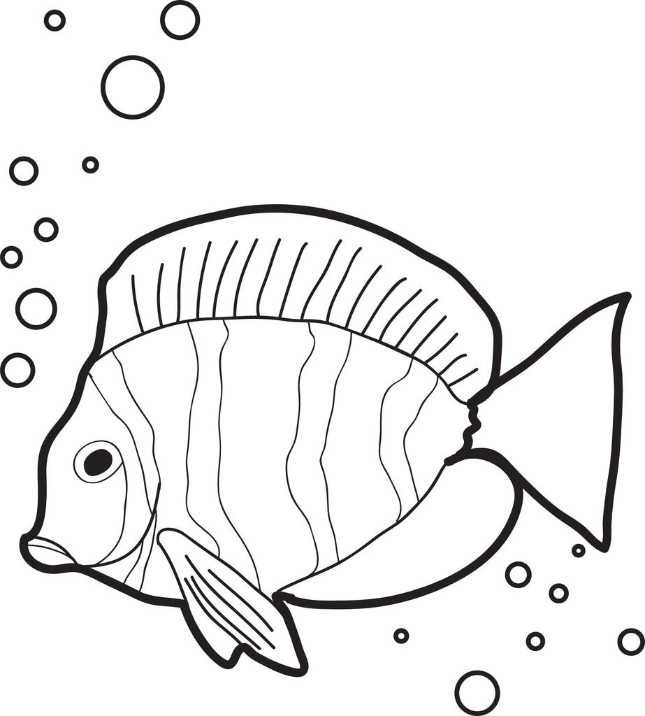Fish With Air Bubbles Coloring Page