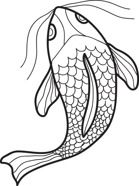 FREE Printable Swimming Fish Coloring Page for Kids
