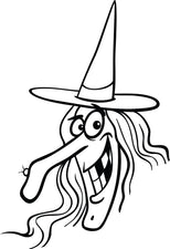 FREE Printable Halloween Witch Coloring Page for Kids